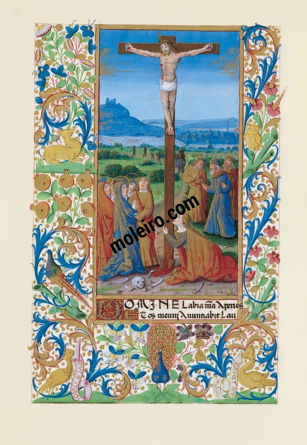 Book of Hours of Louis of Orleans f. 84v, The crucifixion