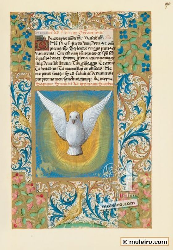 Book of Hours of Louis of Orleans f. 90r, The Holy Ghost