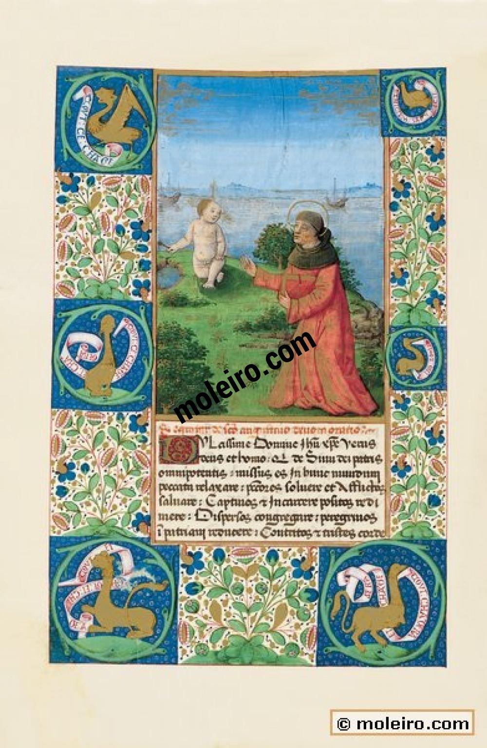 Stundenbuch des Ludwig von Orleans f. 94v, Gebet des Heiligen Augustinus