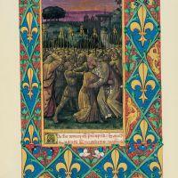 f. 100r, Il bacio di Giuda