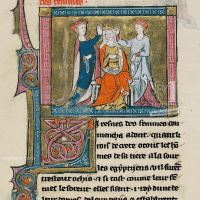 f. 13, Penthesilea, queen of the Amazons, with her ladies-in-waiting