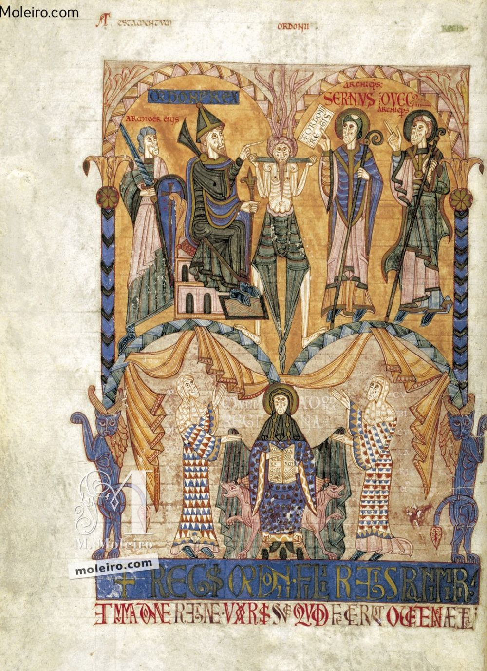 Das Buch der Testamente f. 8v, Testament Ordoños I. (Asturien)