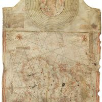 Christopher Columbus's Chart, Mappa Mundi (Res. GE. AA. 562., Date: c. 1492.)Bnf