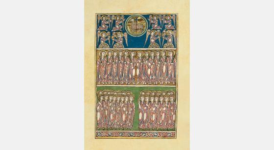 Beato de Liébana - Manuscritos Iluminados El Cordero y los elegidos. Beato de San Pedro de Cardeña