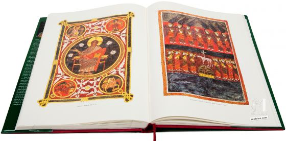 Beato de Liébana - Manuscritos Iluminados Maiestas y El Cordero sobre el monte Sión. Beato de Silos.