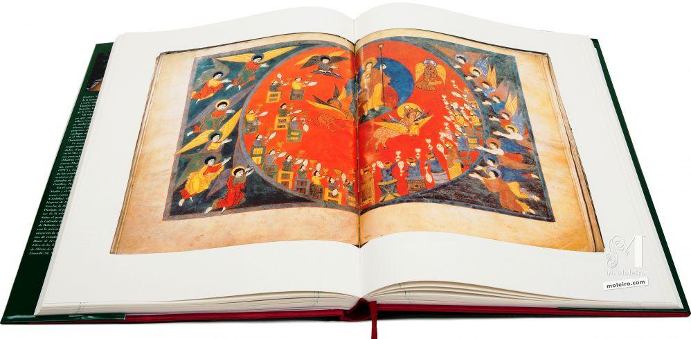 Beato de Liébana - Manuscritos Iluminados Visión del trono y los ancianos. Beato de Saint-Sever, ff. 121v-122