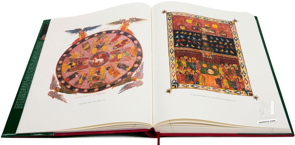 Beato de Liébana - Manuscritos Iluminados Visión del Cordero y Las almas de los mártires ante el altar de Dios