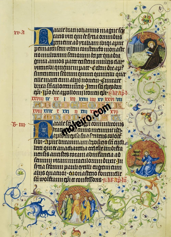 Martirológio de Usuardo folio 33r