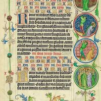 Images of the Medallions, 9-10th June, folio 59r<br />