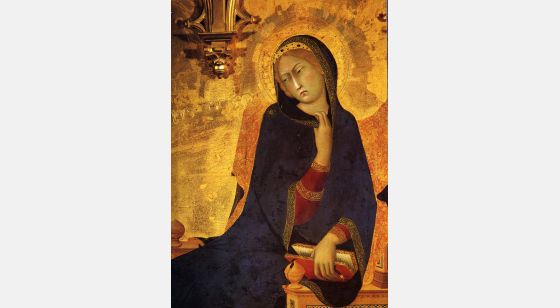 Mujeres. Mitologías Simone Martini, The Annunciation, painting on wood, 1333.