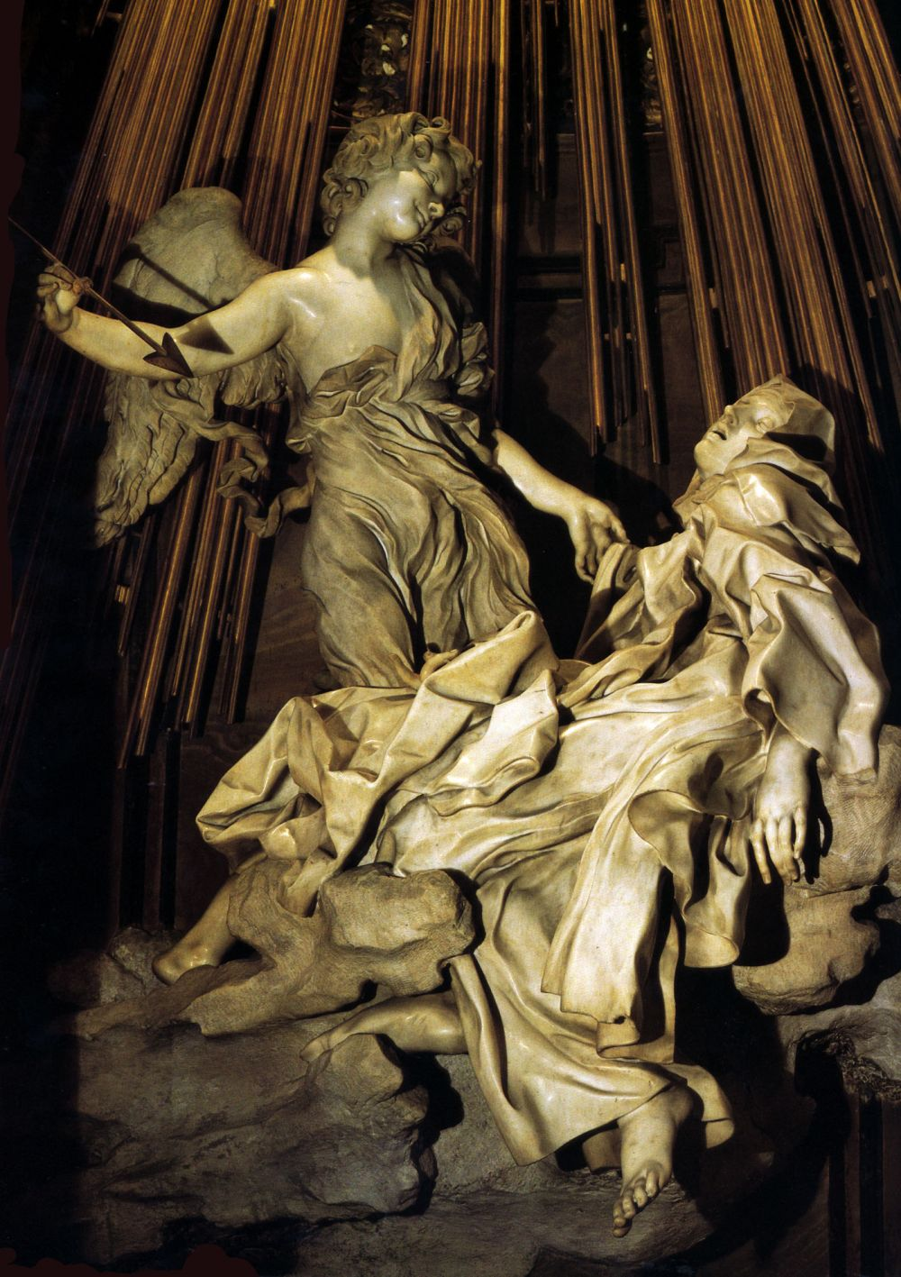 Mujeres. Mitologías Lorenzo Bernini,Extase de Sainte Thérèse, 1645-1652.