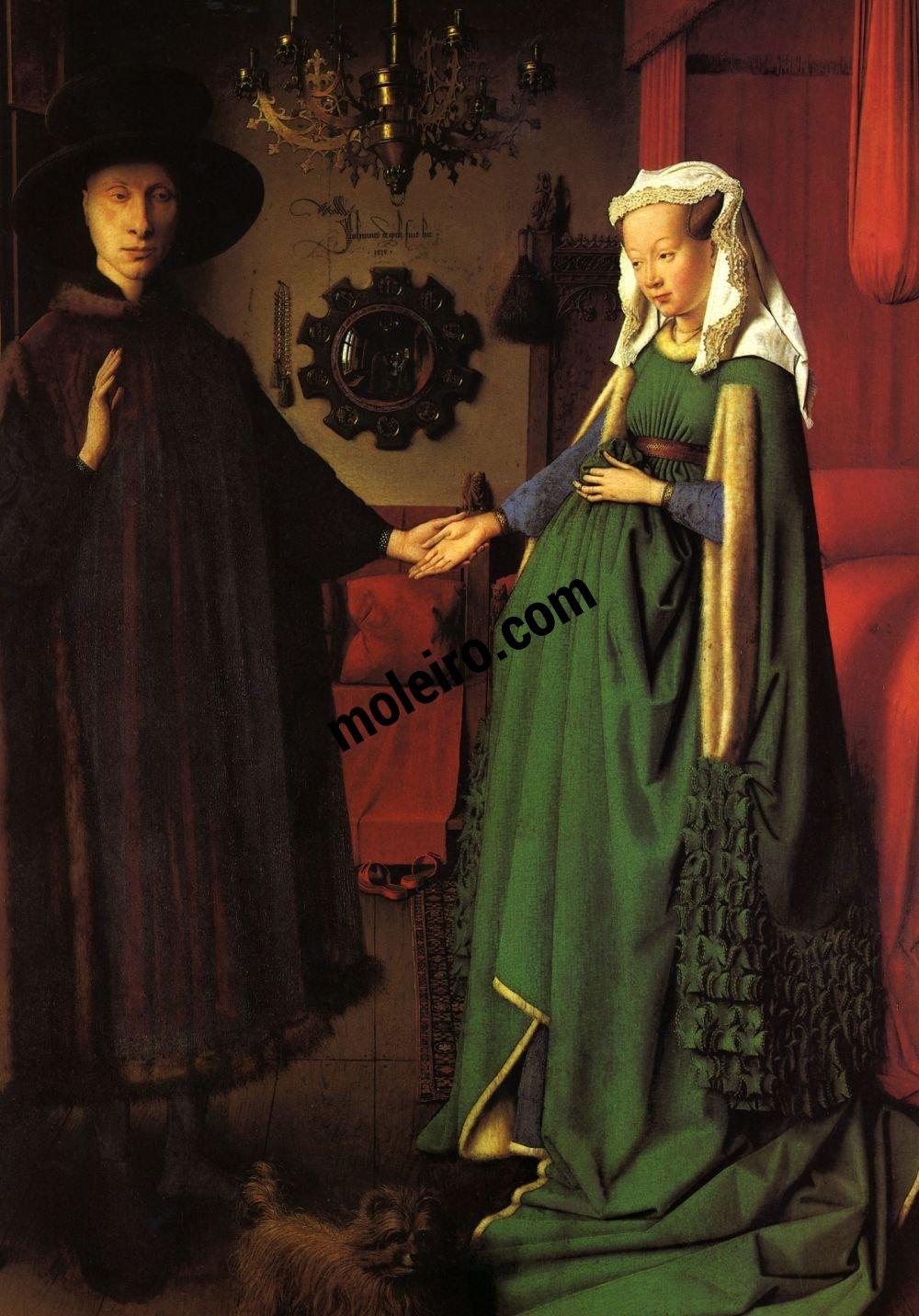 Mujeres. Mitologías Jan Van Eyck,Retrato de cônjuges Arnolfini, 1434.