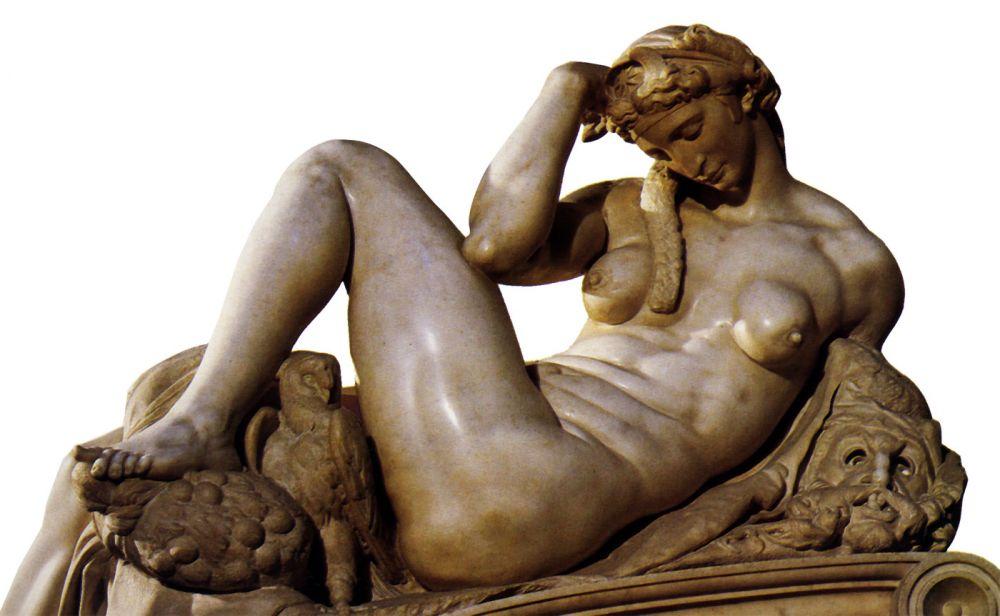Mujeres. Mitologías. Miguel Ángel,La noche, 1526-1531.