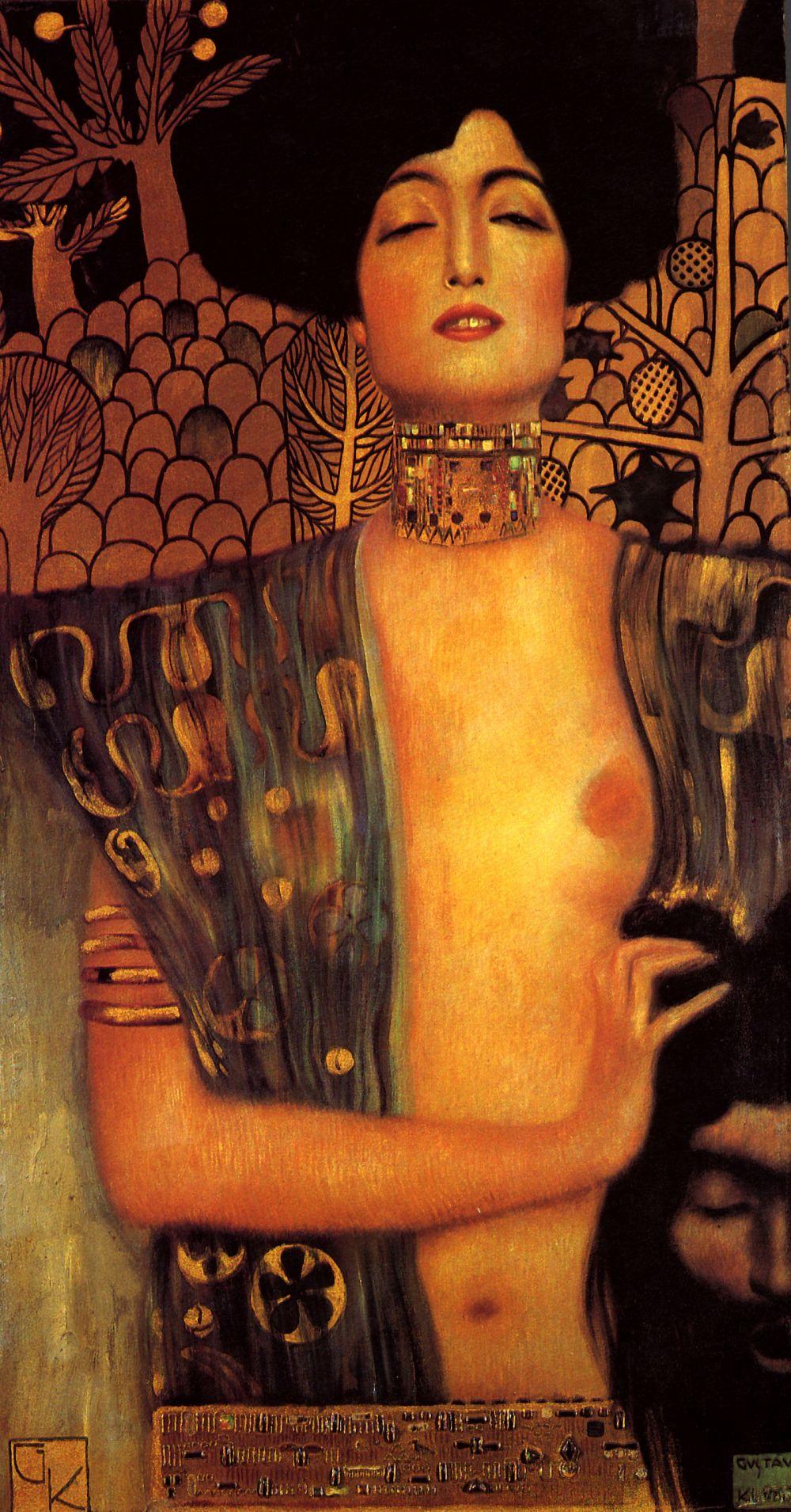 Mujeres. Mitologías. Gustav Klimt,Judith y la cabeza de Holofernes II, siglo XIX.