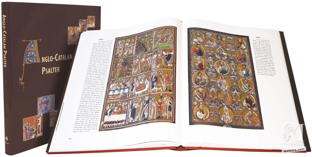 Anglo-Catalan Psalter BnF, presentation of this medieval codex, illuminated manuscript, 13th and 14th century Gothic art.