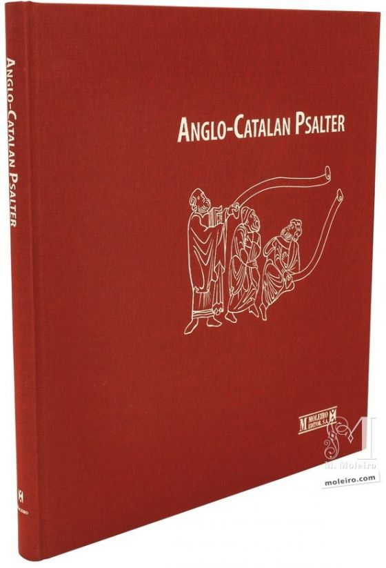Photo of the cloth binding of the Anglo-Catalan Psalter.