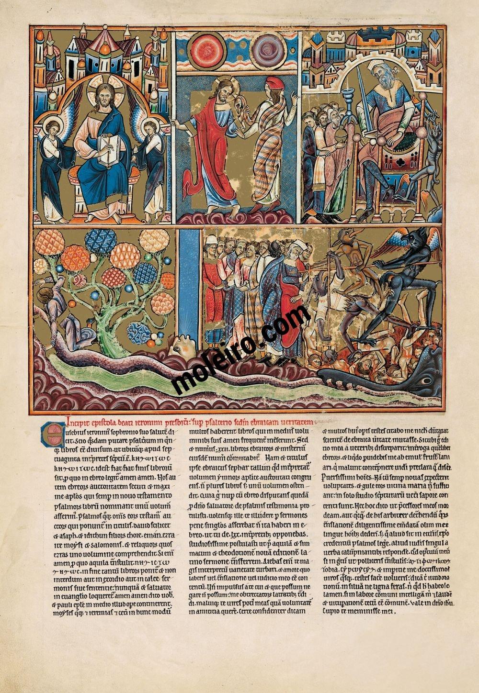 Salterio Glossato f. 5v, salmo 1 Beato l'uomo che non segue il consiglio degli empi