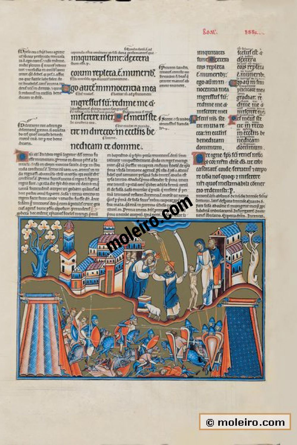 The Great Canterbury Psalter f.44v, psalm 26 The Lord is my light and my salvation