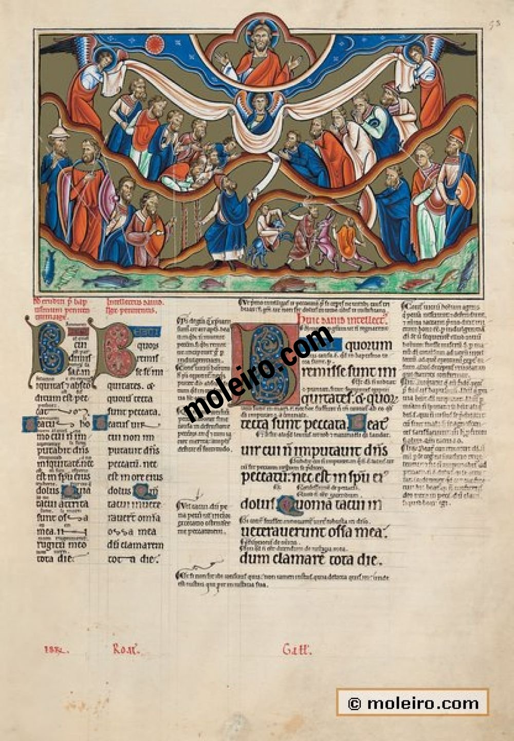 The Great Canterbury Psalter f. 53r, psalm 31  Blessed are they whose iniquities are forgiven