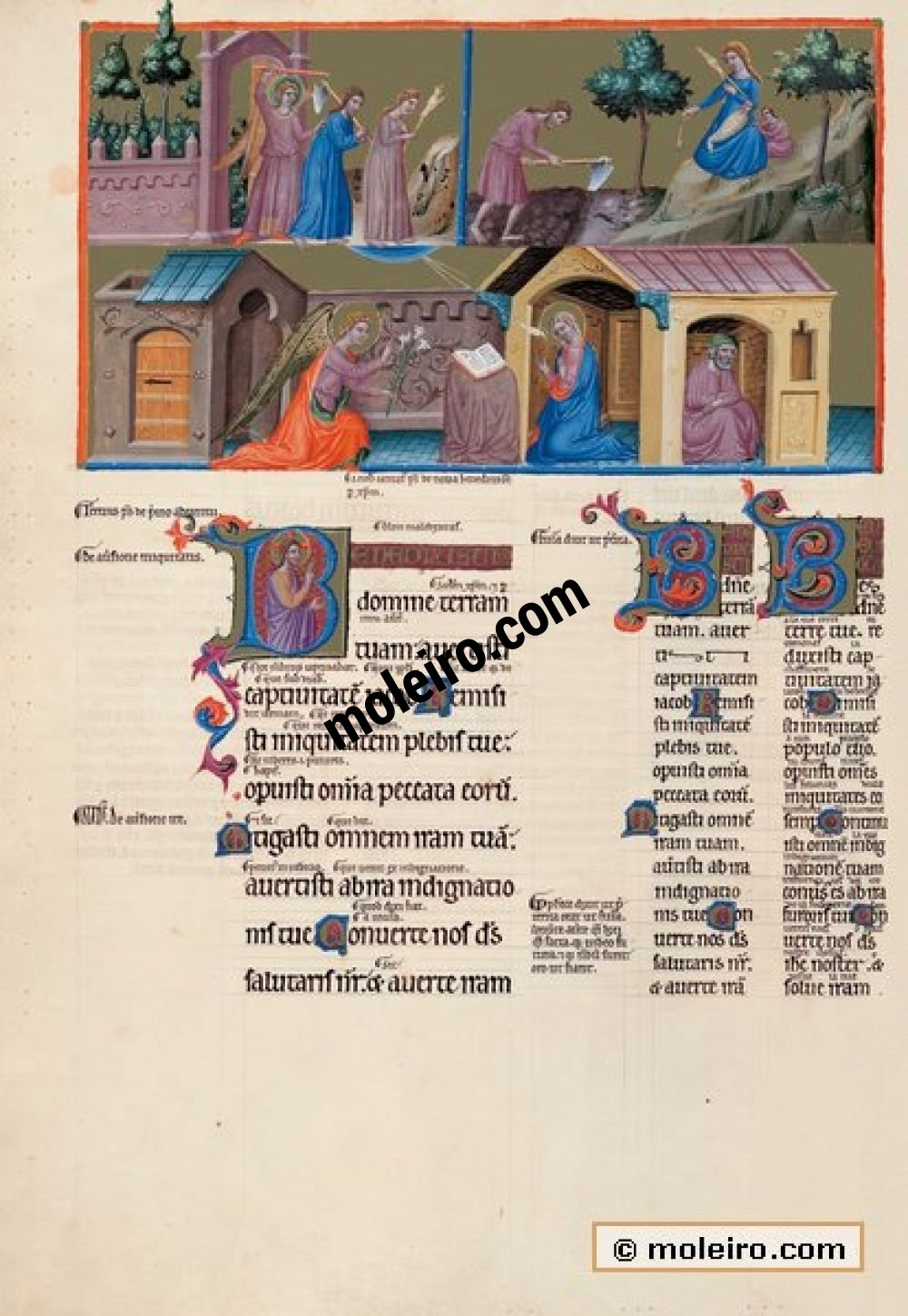 The Great Canterbury Psalter f. 150v, psalm 84  Lord, you have blessed your land