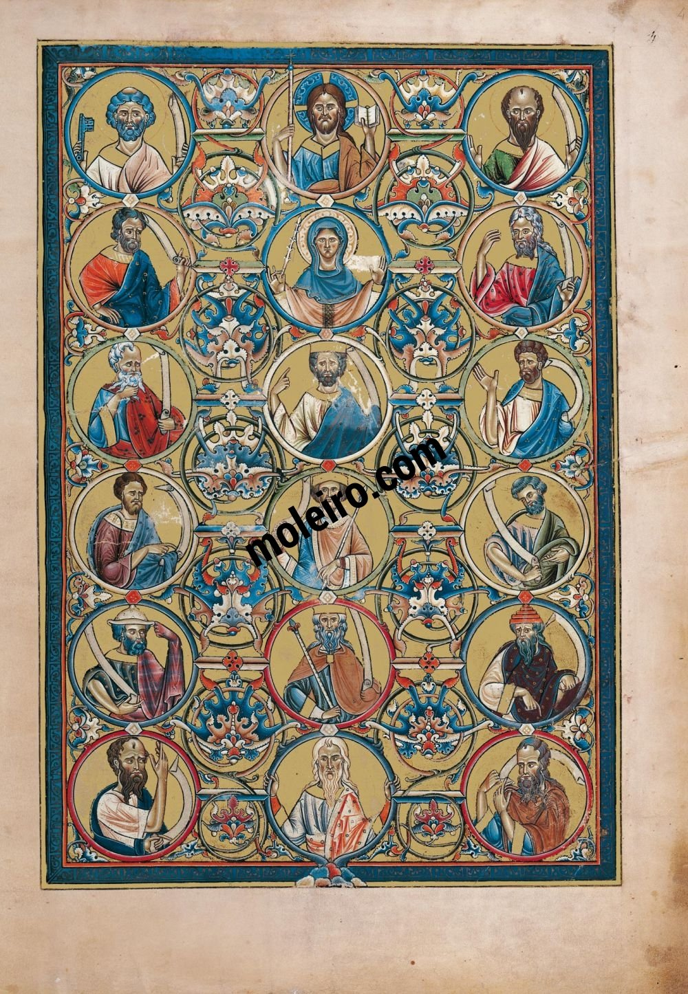 The Great Canterbury Psalter Genealogy of Jesse, f. 4r