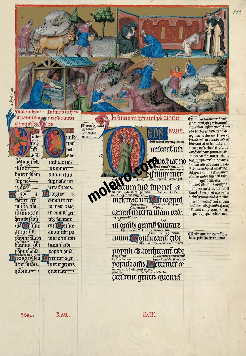 The Great Canterbury Psalter f. 113r, psalm 66 May God have mercy on us and bless us