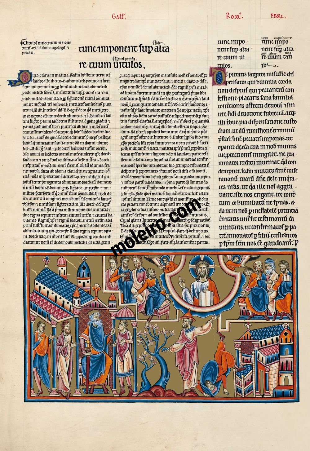 The Great Canterbury Psalter f. 90v, psalm 51, Why do you glory in malice, you that are great in iniquity
