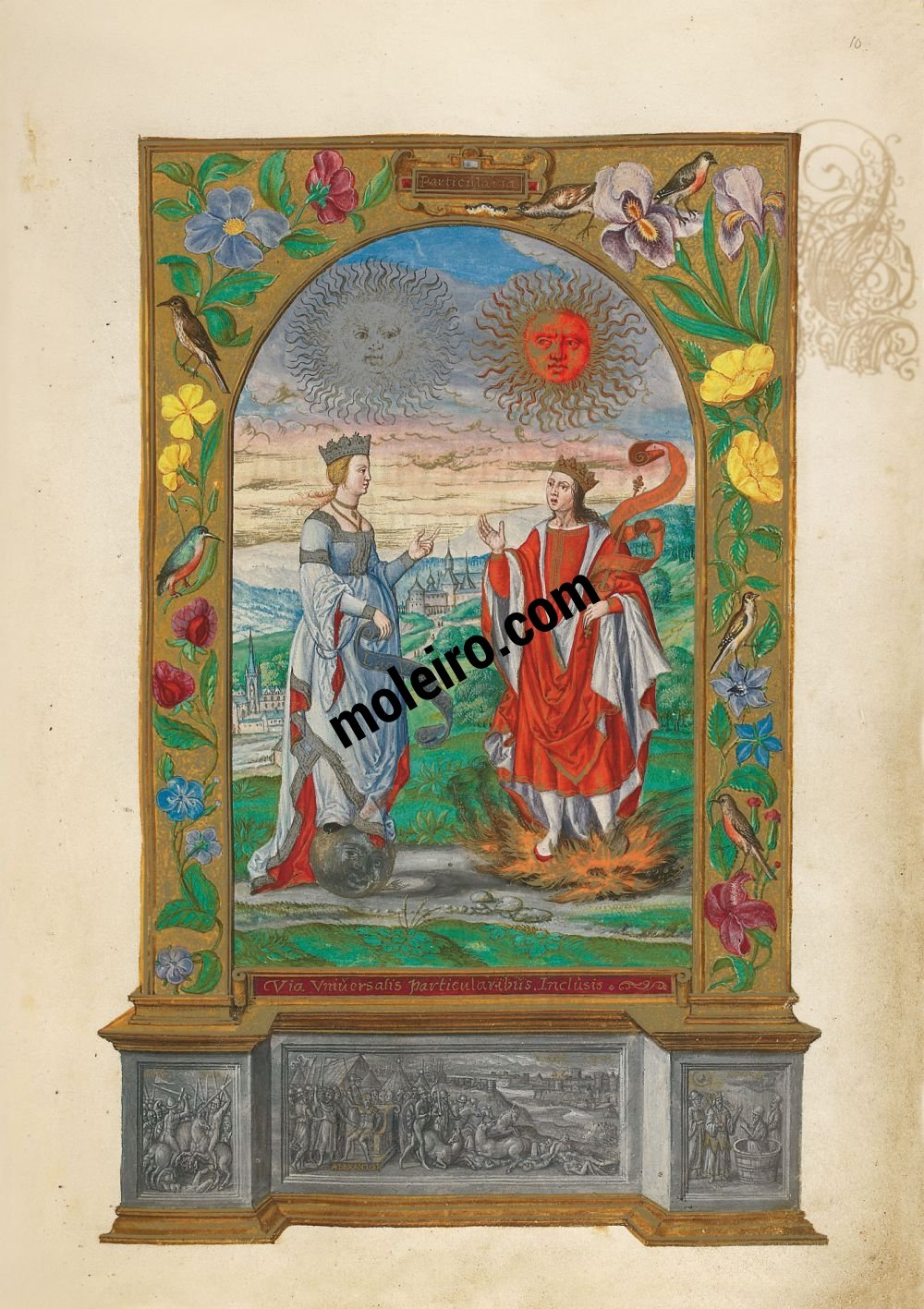 Splendor Solis f. 10r, Pareja Real