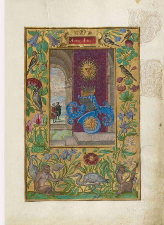 Arma Artis en el Splendor Solis, Harley 3469 (1582, Alemania)  British Library, Londres. Manuscrito Iluminado.