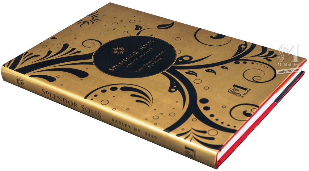 Photography of the front cover of the book of art Splendor Solis
