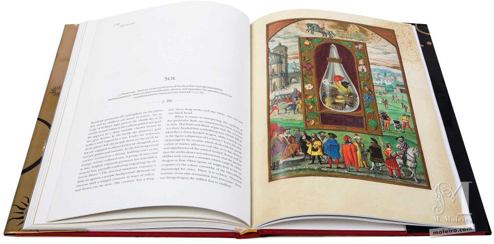 Soleil dans le traité d´alchimie Splendor Solis, Harley 3469 (1582, Allemagne), conservé à la British Library.
