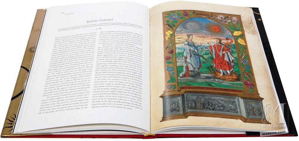 Pareja real en el tratado alquímico, Splendor Solis, Harley Ms. 3469 (1582, Alemania) de la British Library