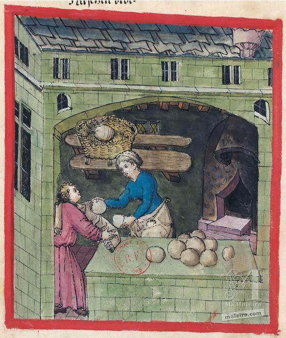 Tacuinum Sanitatis f. 62v, Millet bread