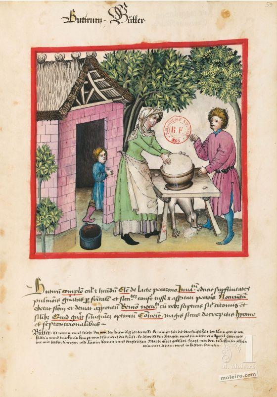 Tacuinum Sanitatis f. 59r, Butter
