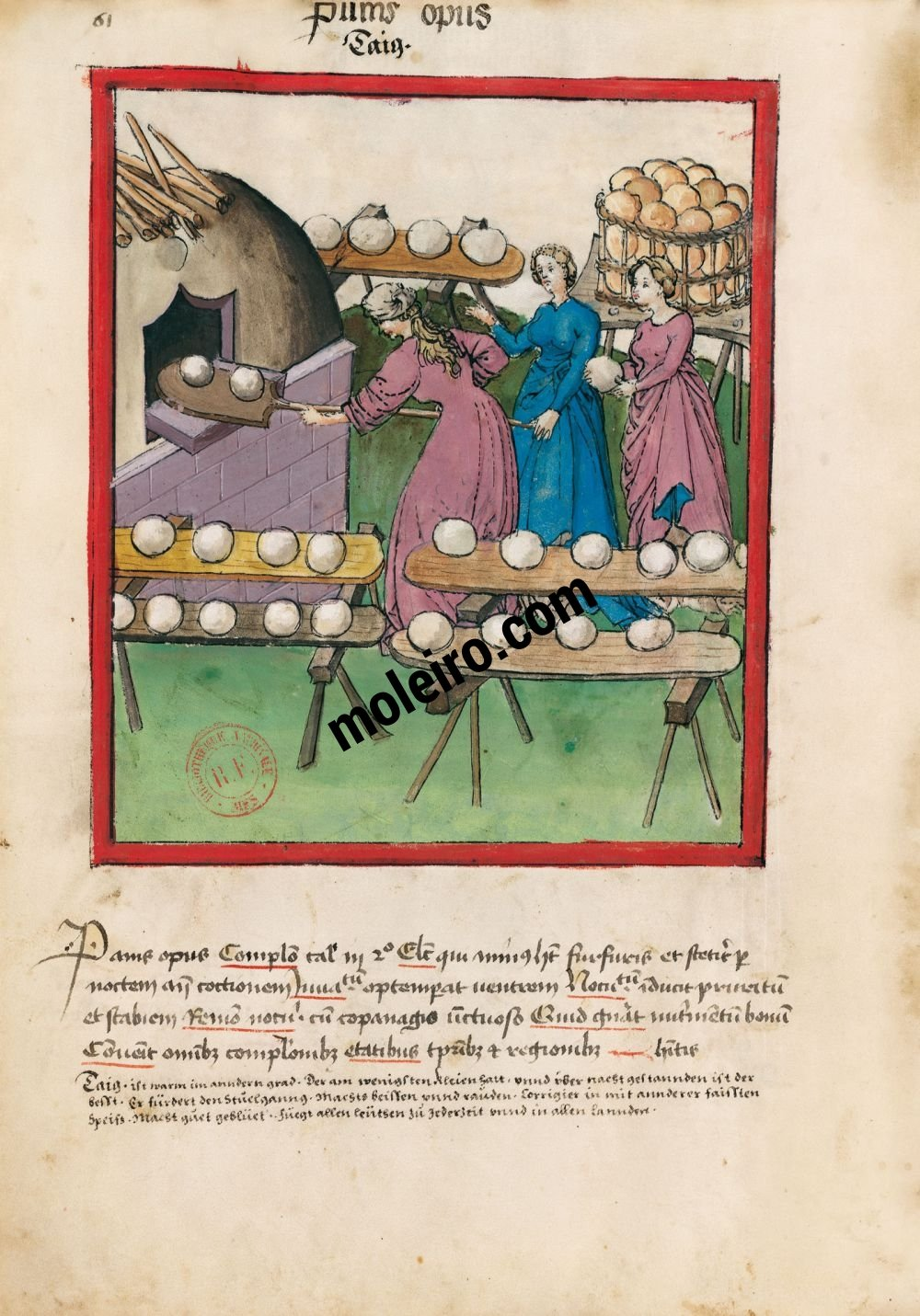 Tacuinum Sanitatis f. 61v, Pain bis