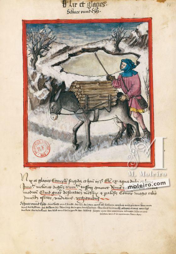 Tacuinum Sanitatis  f. 87r, Nieve y hielo