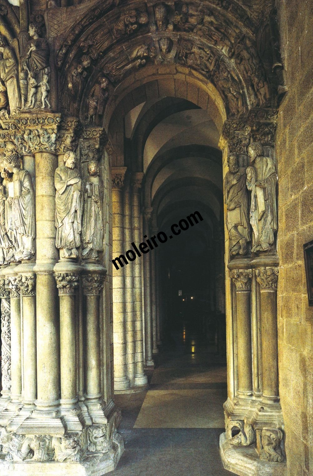 Talleres de Arquitectura en la Edad Media Santiago di Compostela, Spagna, portico della Gloria, secolo XII