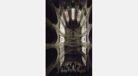 Talleres de Arquitectura en la Edad Media Narbonne, France, inside the cathedral, choir vault, 13th and 14th C.