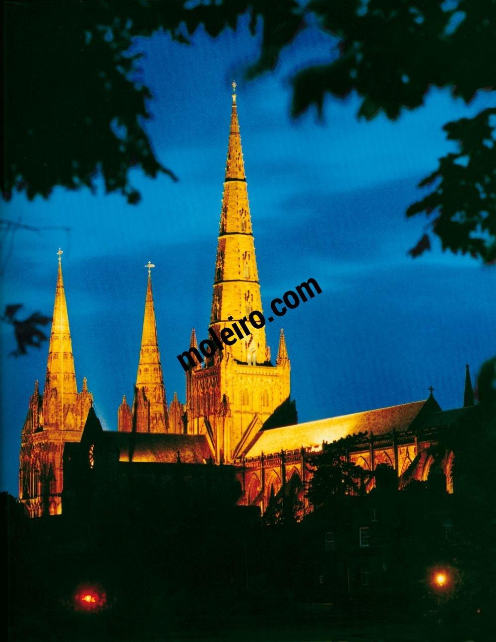 Talleres de Arquitectura en la Edad Media Lichfield, Birmingham, Inglaterra, torre, siglo XII o XIII