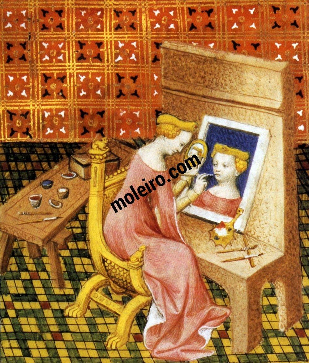 Talleres del Renacimiento Marcia, pintora, miniatura do Livre des femmes nobles et renommées. París, BnF, ms. 13420, f.101v