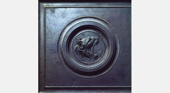 Talleres del Renacimiento Lorenzo Ghiberti, Lion's head, bronze relief. Florence, Baptistry, north gate.