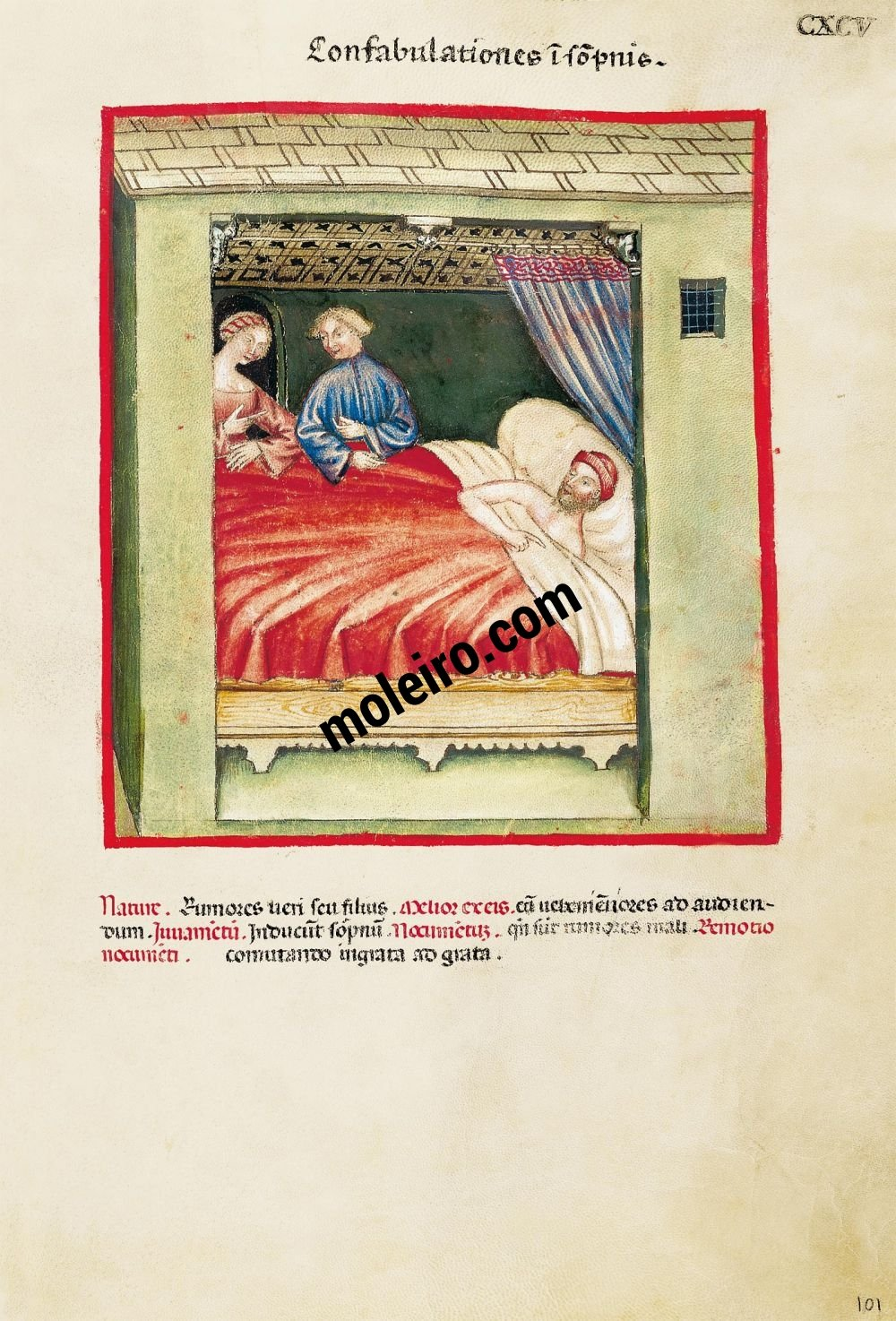Theatrum Sanitatis f. CXCV, Conversations whilst one sleeps