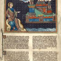 f. 45r · The Holy City comes down from Heaven when God creates a new Heaven and a new Earth