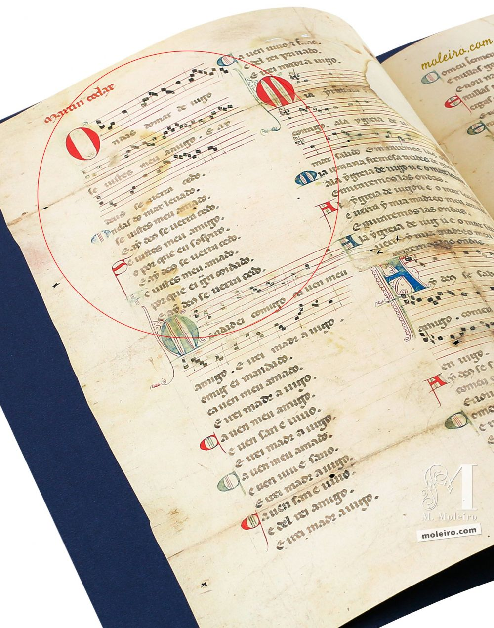 Cantiga 1 of the Vindel Parchment (MS. M979) by Martin Codax - The Morgan Library & Museum, New York