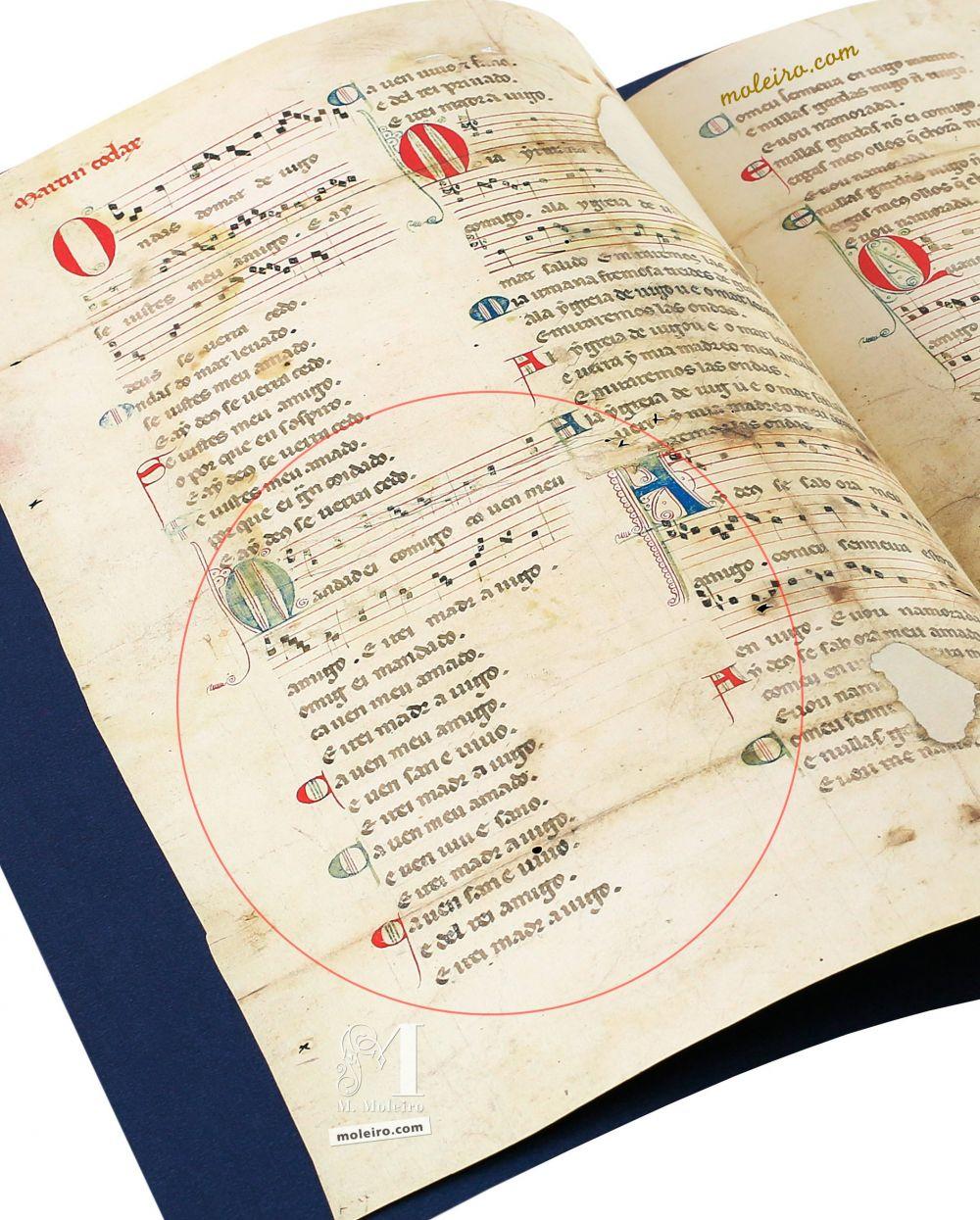 Cantiga 2 Vindel Pergament Martin Codax - The Morgan Library & Museum, Nueva York
