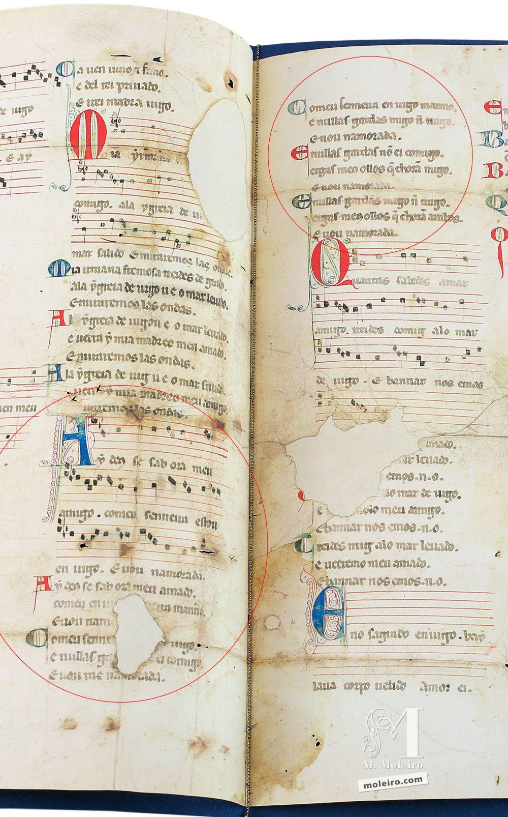 Cantiga 4 della Pergamena Vindel di Martin Codax - The Morgan Library & Museum, New York