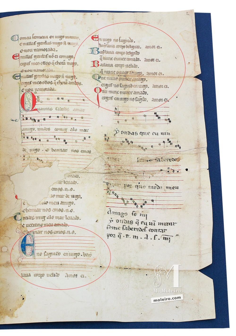 Cantiga 6 of the Vindel Parchment by Martin Codax ms. m979 - The Morgan Library & Museum, New York