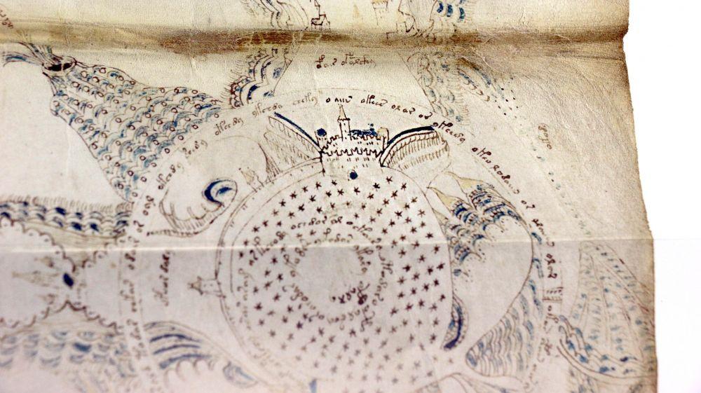 The Voynich Manuscript Castle detail of The Voynich Manuscript