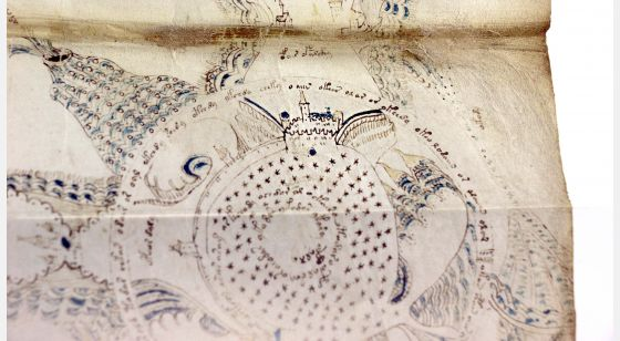 The Voynich Manuscript Castle detail of The Voynich Manuscript