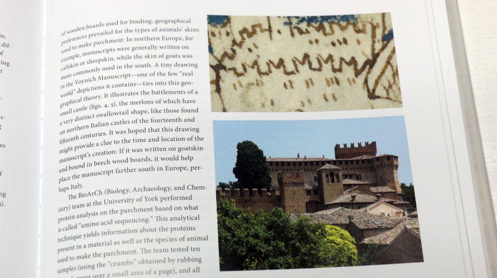 El Manuscrito Voynich Detalle del castillo en el Manuscrito Voynich